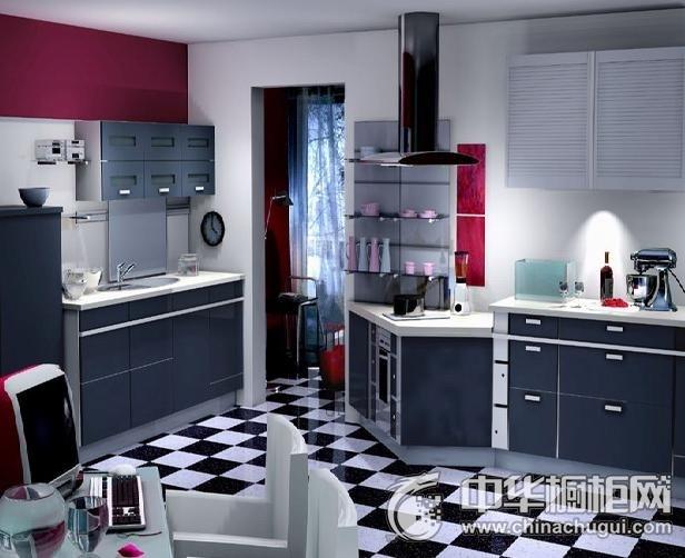 爱家橱柜 罗曼风情系列橱柜图片 开放式厨房装修效果图