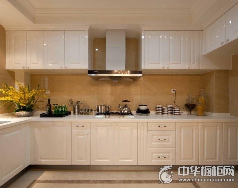 150平三居室欧式风厨房装修效果图 L型橱柜图片