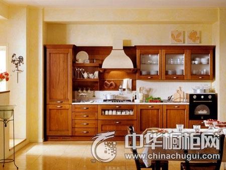 家和万事兴橱柜 实木橱柜系列橱柜图片 一字型橱柜装修效果图