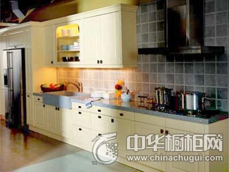 家和万事兴橱柜 吸塑橱柜系列图片 一字型橱柜装修效果图