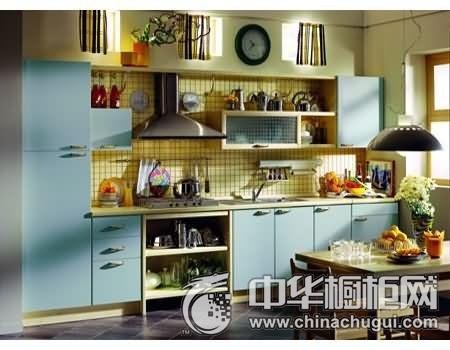 家和万事兴橱柜 蓝色系橱柜图片 现代简约风格整体橱柜效果图