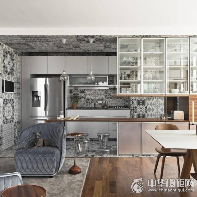 精致实用现代风格厨房橱柜装修图片 简洁的视觉享受