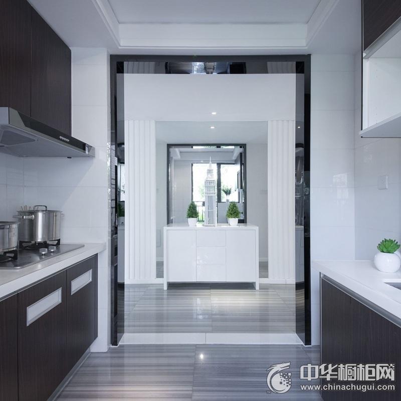 极简风格厨房整体橱柜装修效果图 厨房橱柜效果图