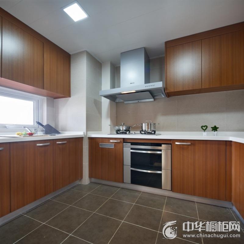 现代风格厨房木纹整体橱柜装修图片 厨房橱柜图片