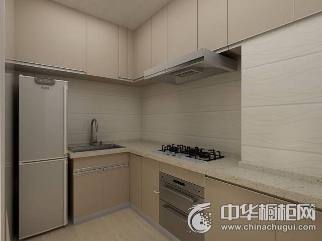 现代简约风格厨房橱柜装修实景图 现代厨房橱柜装修效果图片