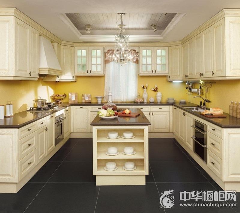 美式风格白色橱柜效果图片 美式风格橱柜图片