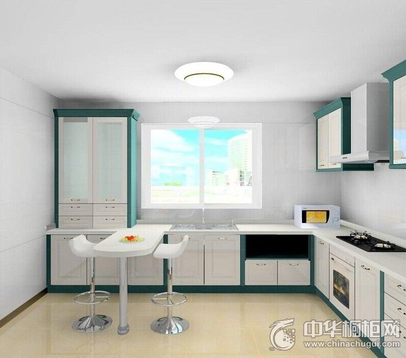 清新风格厨房整体橱柜装修效果图 厨房整体橱柜设计图