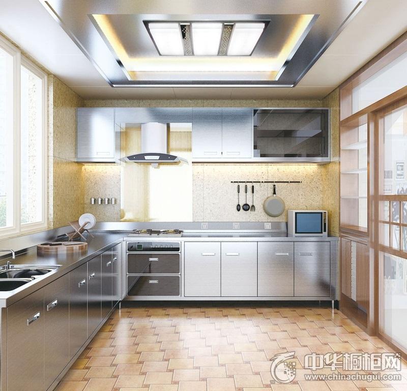 厨房不锈钢整体橱柜效果图 不锈钢橱柜装修效果图