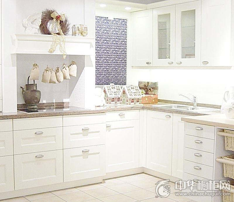田园风格白色厨房整体橱柜图片 厨房橱柜图片
