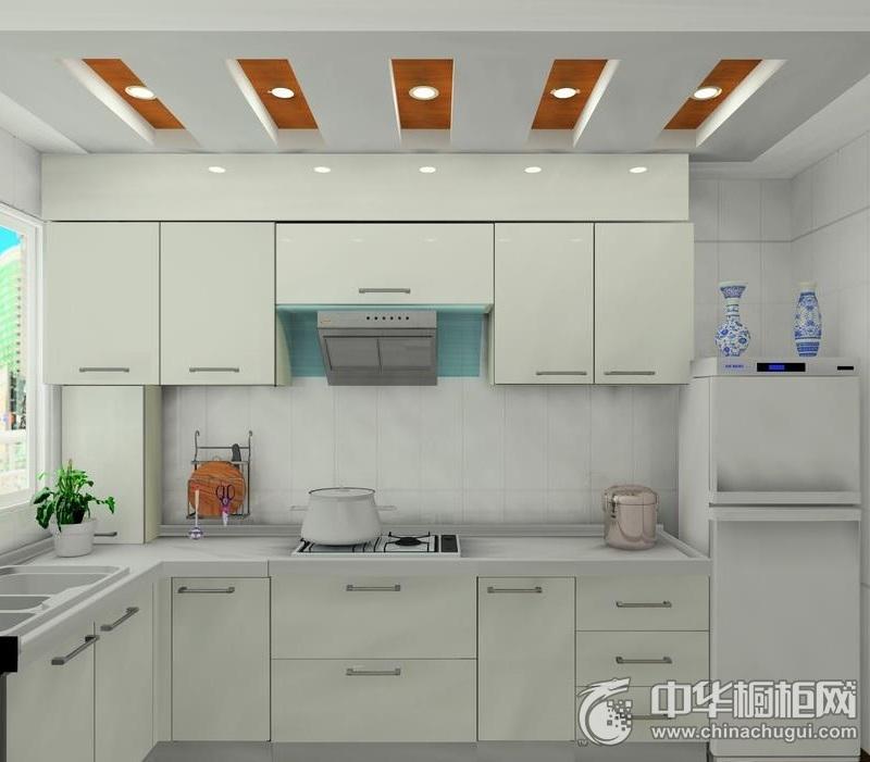 质朴简约风厨房橱柜装修效果图 白色整体橱柜装修效果图