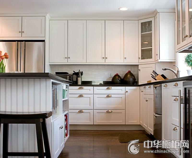 典雅欧式风格白色整体橱柜效果图 欧式实木橱柜设计图