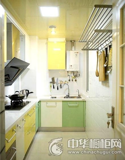 小户型田园风格厨房橱柜装修图片 整体橱柜图片