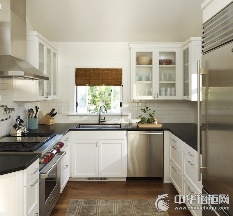 田园风格白色橱柜装修效果图 田园风格整体橱柜设计图