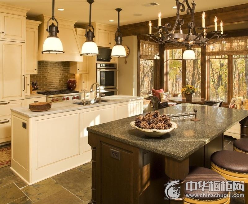 美式乡村风格厨房橱柜图片 打造高颜值魅力厨房