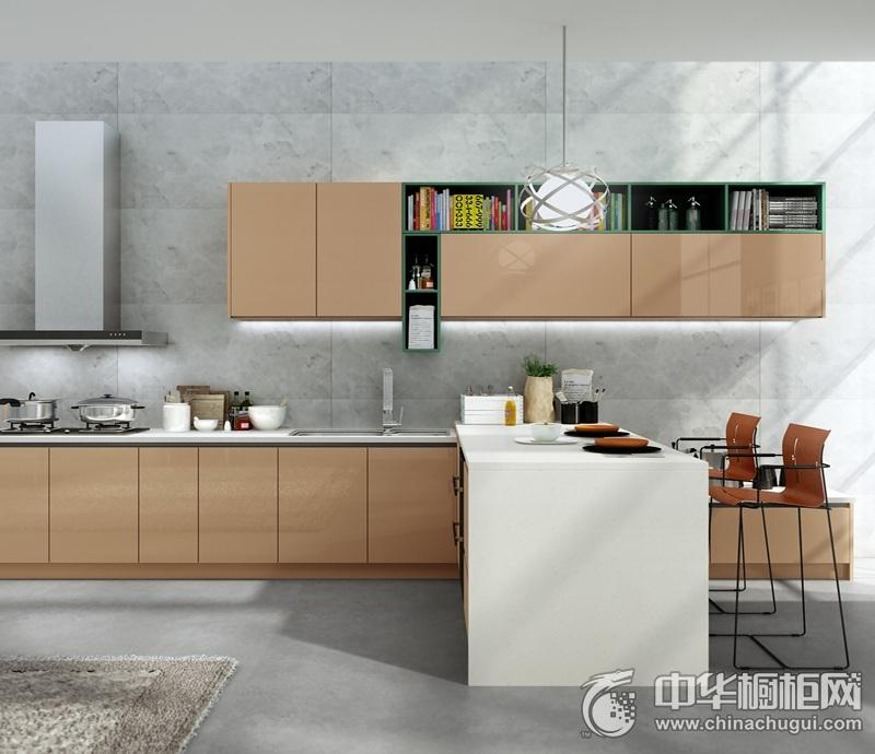 时尚简约风木纹整体橱柜装修效果图 建筑美学雕塑完美空间