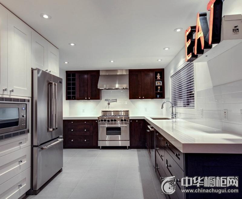 超简洁时尚风格厨房橱柜装修效果图  与空间完美融合
