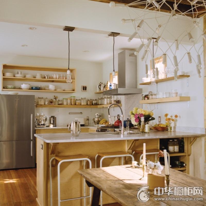 轻奢欧式风厨房橱柜装修效果图 小厨房也有大功能