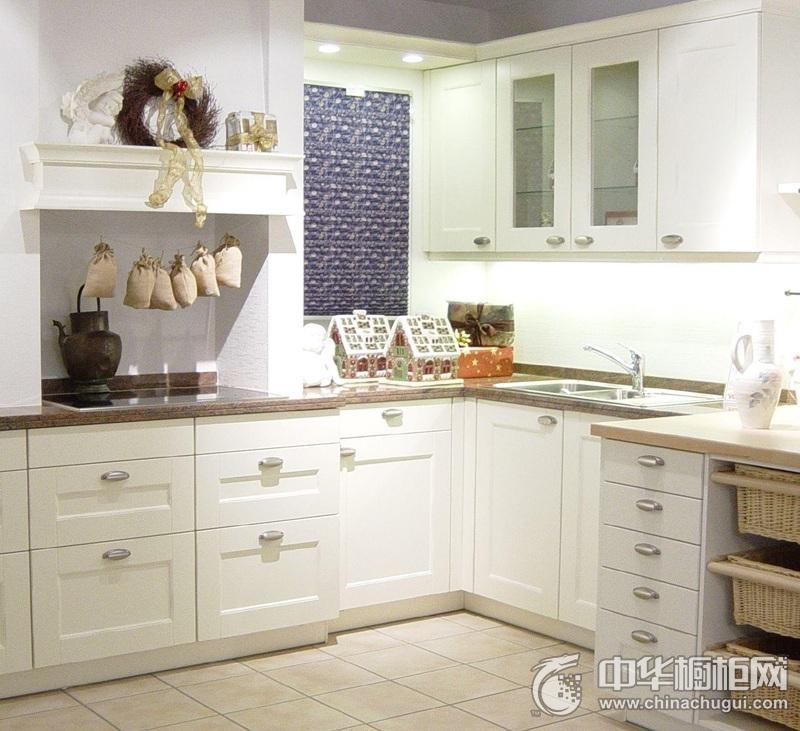 简约风格厨房白色整体橱柜效果图 彰显时尚新生活