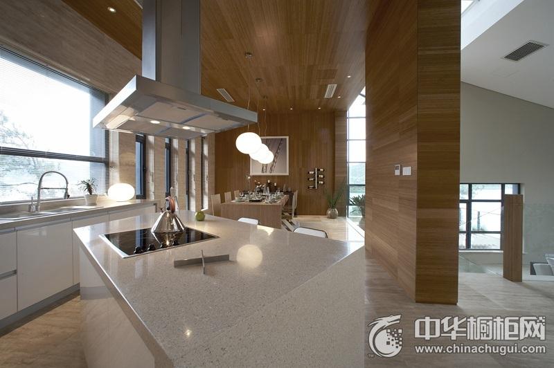 现代简约风161平四居白色橱柜装修效果图 独特的艺术创意