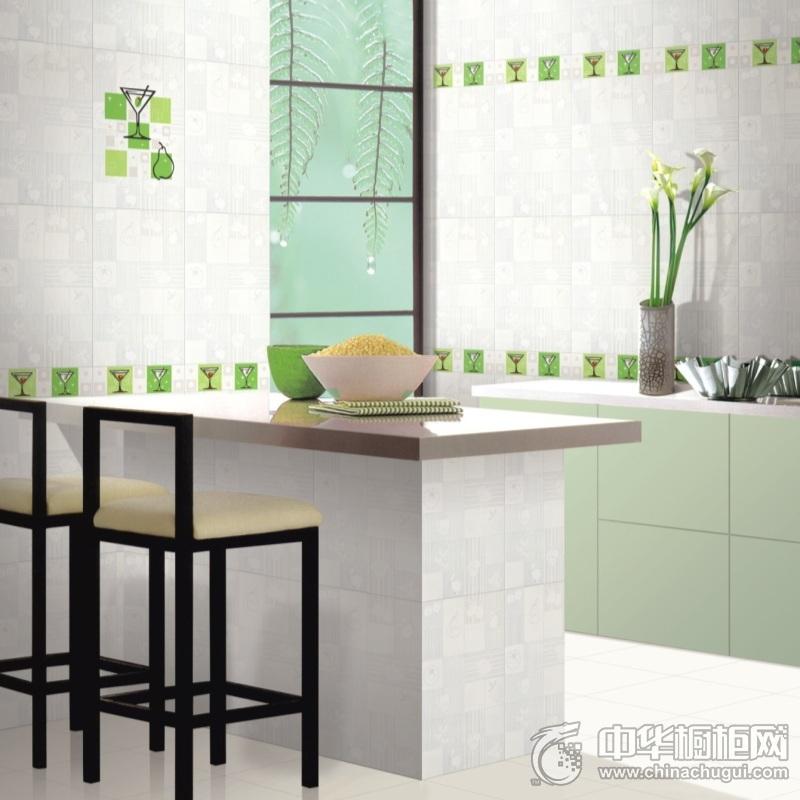 田园风嫩绿色橱柜装修效果图 空间呈现合谐的美感