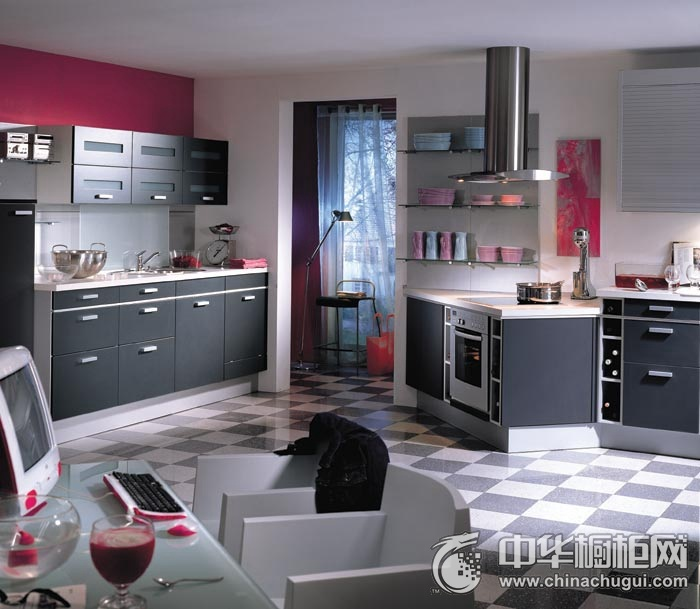 简约风不规则厨房橱柜装修效果图 彰显非凡品位