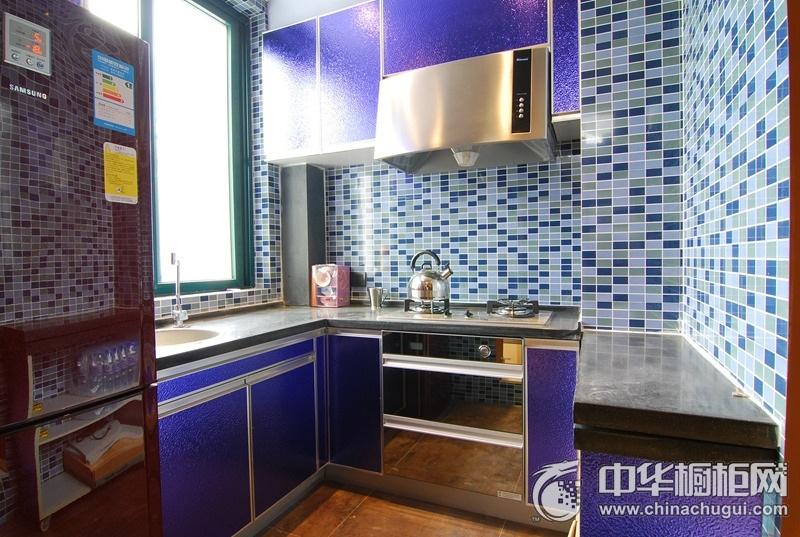 紫色橱柜装修效果图 让幸福的味道在空气中肆意的流淌