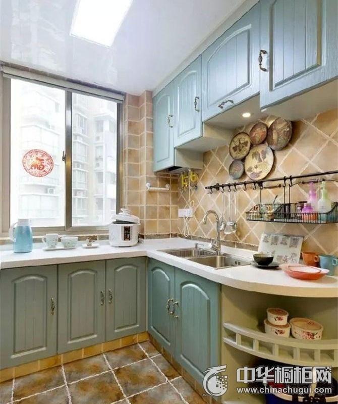 地中海风格新款橱柜效果图 为厨房增添一丝活力气息