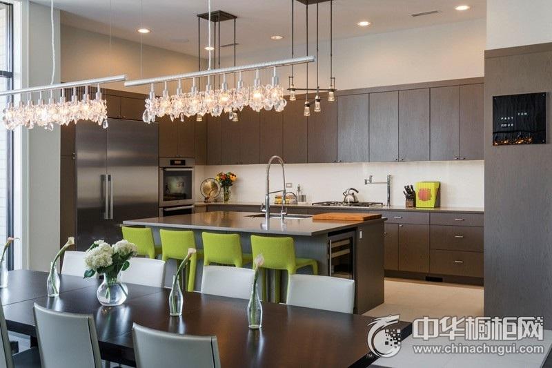 前卫现代风格厨房橱柜装修效果图 中岛台橱柜图片