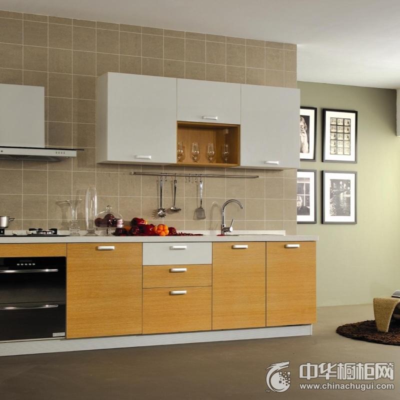暖色系二居黄色橱柜装修效果图 节省空间的使用