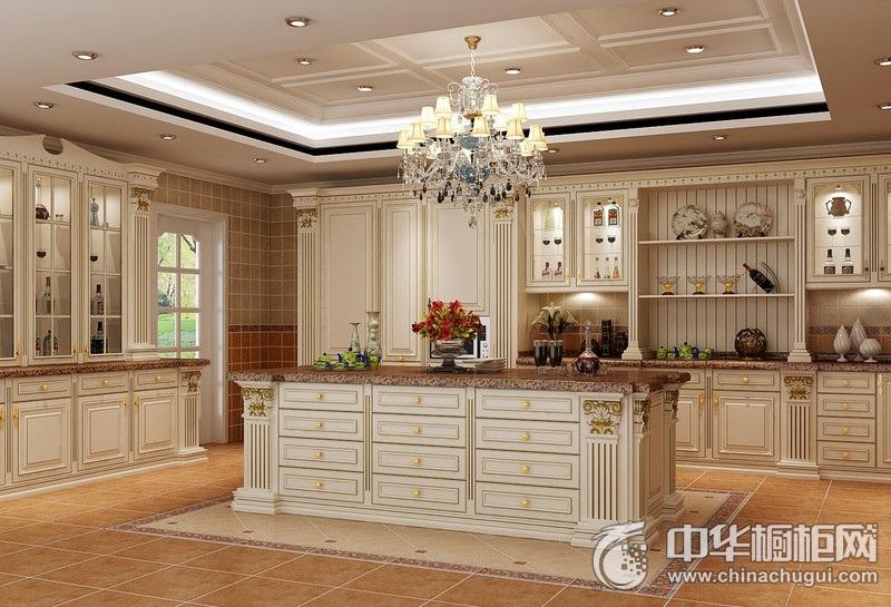 奢华欧式风别墅白色橱柜装修效果图 大橱柜装修效果图