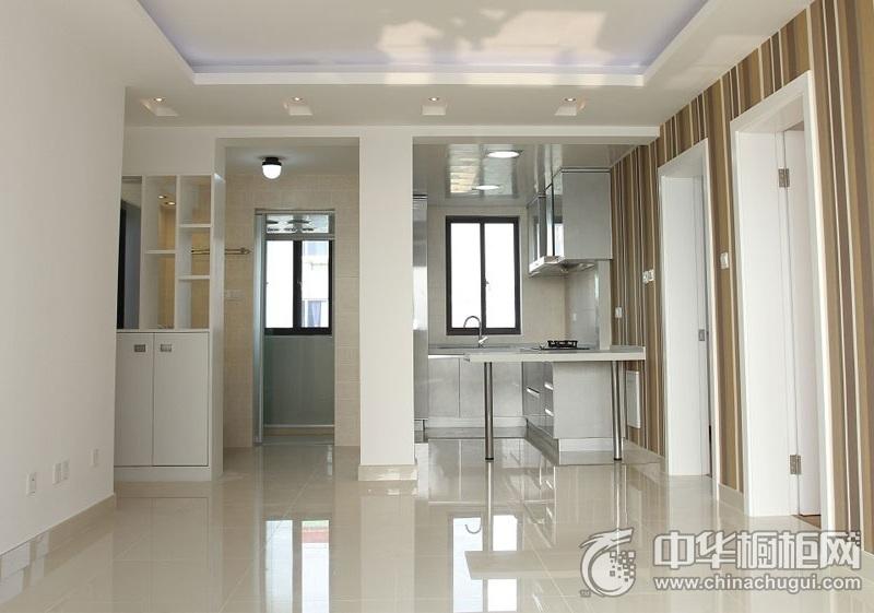 现代简约白色烤漆橱柜装修效果图 让厨房多了一丝艺术气息