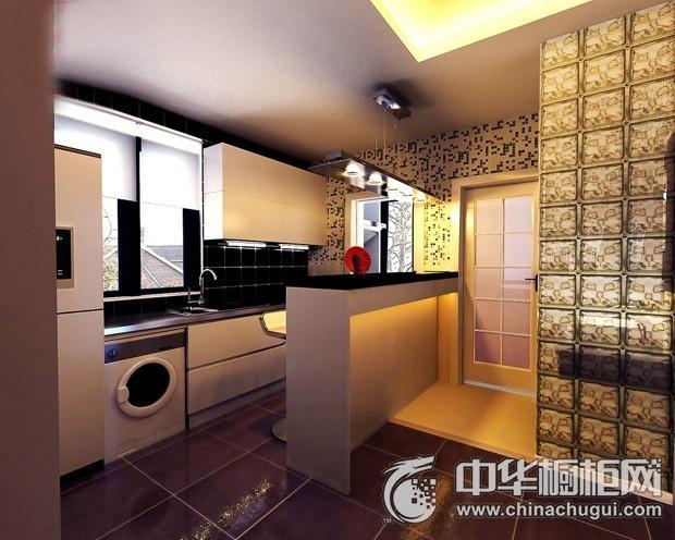 现代简洁白色橱柜装修效果图 空间宽敞明亮
