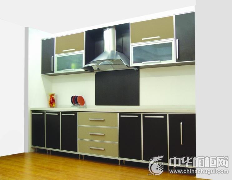 欧式厨房经典一字型整体橱柜效果图 工艺精湛追求品质