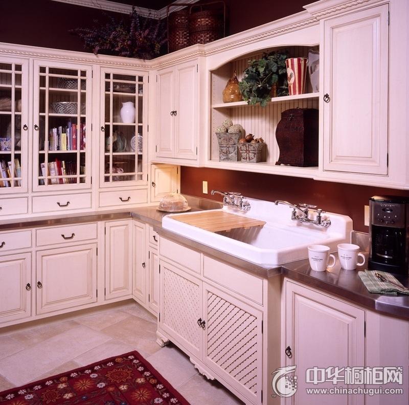 欧式多功能组合橱柜装修效果图 白色整体橱柜效果图