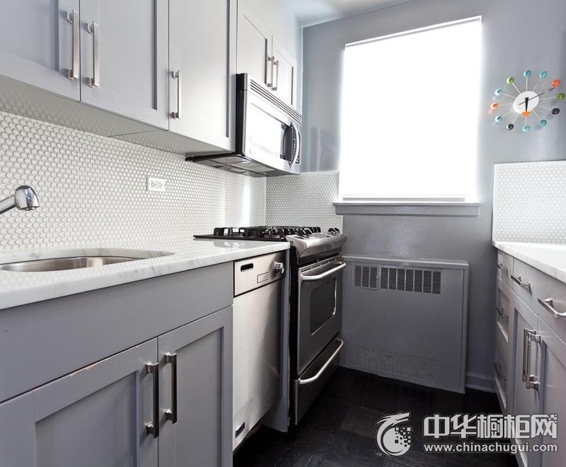 极简现代风灰色橱柜装修效果图 色调让人心情平静舒畅