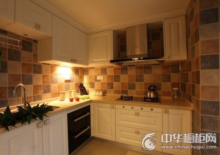 地中海风格厨房橱柜装修效果图 小户型橱柜效果图