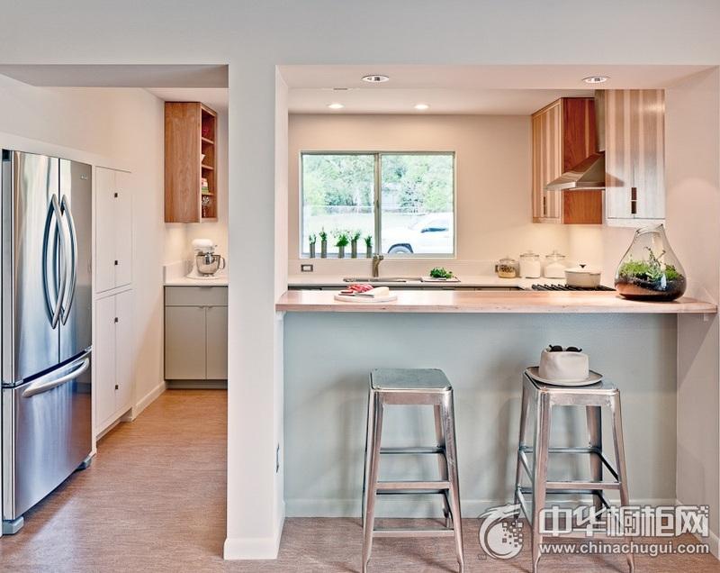 田园风格厨房橱柜空间装修实景图 一字型整体橱柜图片
