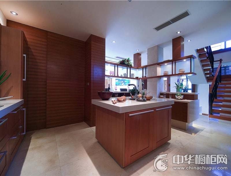 别墅现代风格岛型橱柜图片 岛型橱柜图片
