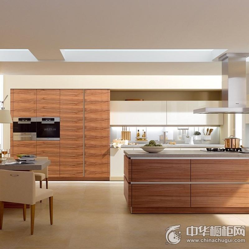 二居室原木色厨房橱柜装修实景图  环保板材健康更放心