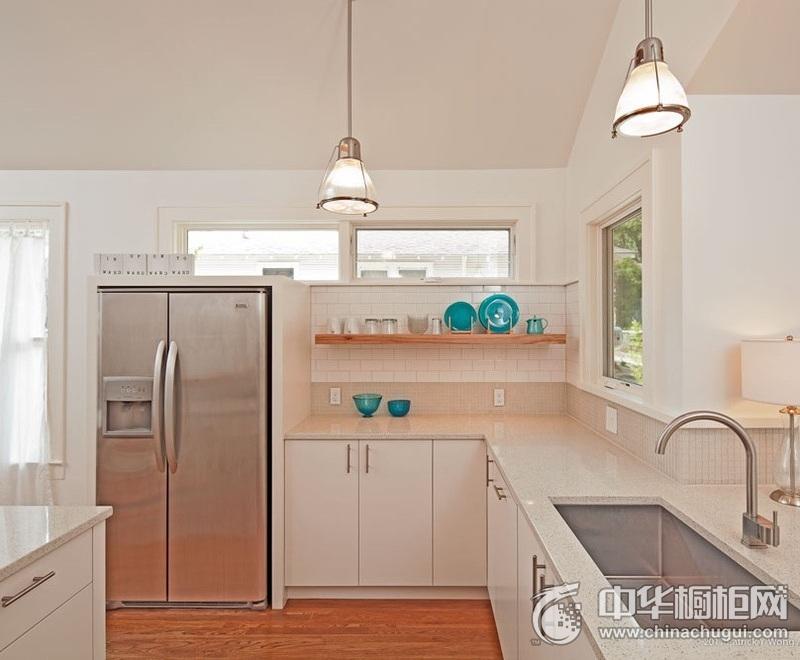 田园风格厨房白色橱柜装修效果图 田园风格橱柜设计效果图