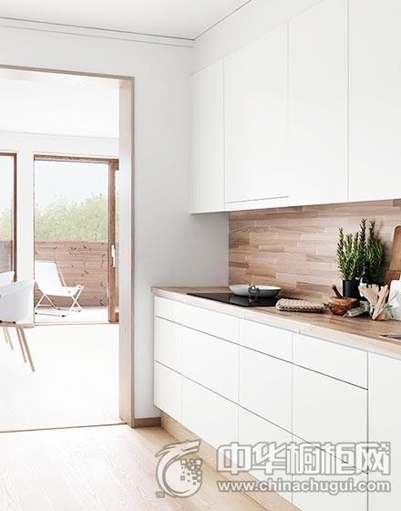 白色厨房木质整体橱柜装修实景图 小户型橱柜整体橱柜效果图