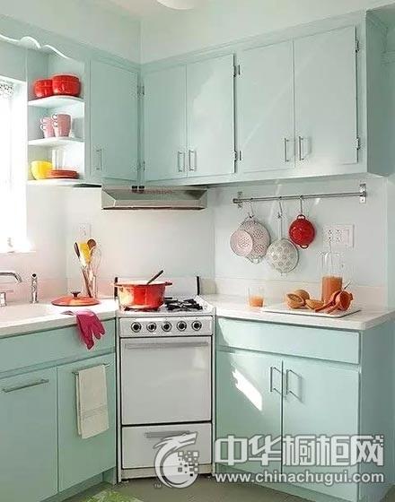 缤纷色彩厨房薄荷绿整体橱柜图片 薄荷绿整体橱柜效果图
