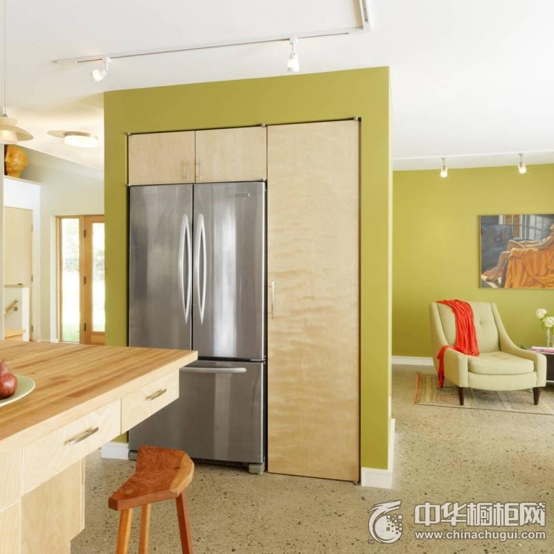 田园风格厨房橱柜装修实景图 实木整体橱柜图片