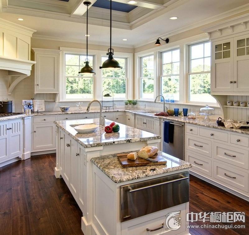 欧式风格白色洁净格调厨房橱柜装修实景图