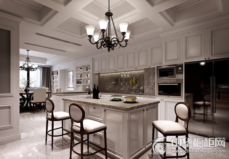 大气沉稳厨房现代风格橱柜效果图 大户型整体橱柜效果图