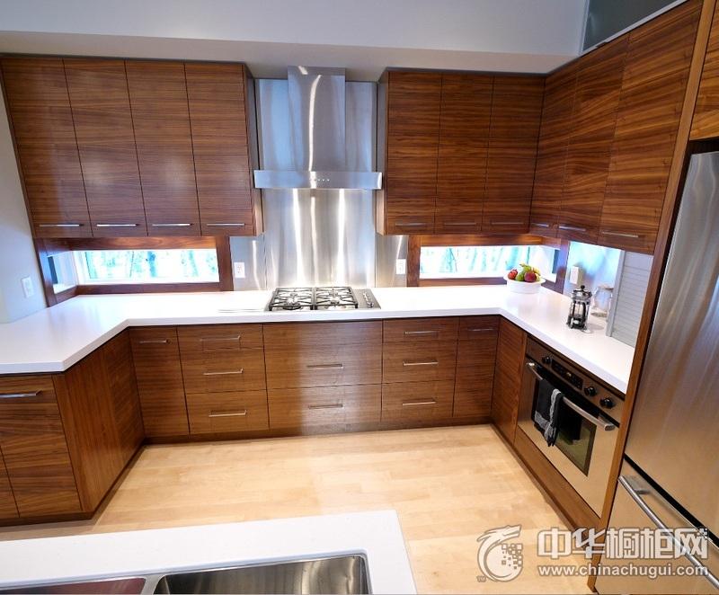 简约风格厨房实木整体橱柜装修设计 实木橱柜装修图片
