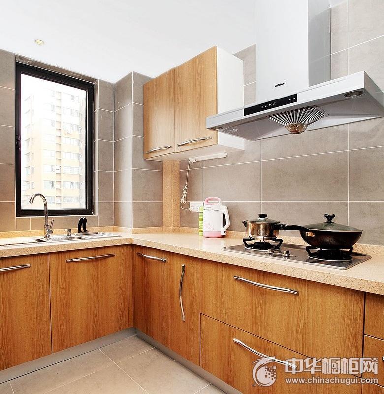 简约风格厨房橱柜效果图 L型整体橱柜效果图