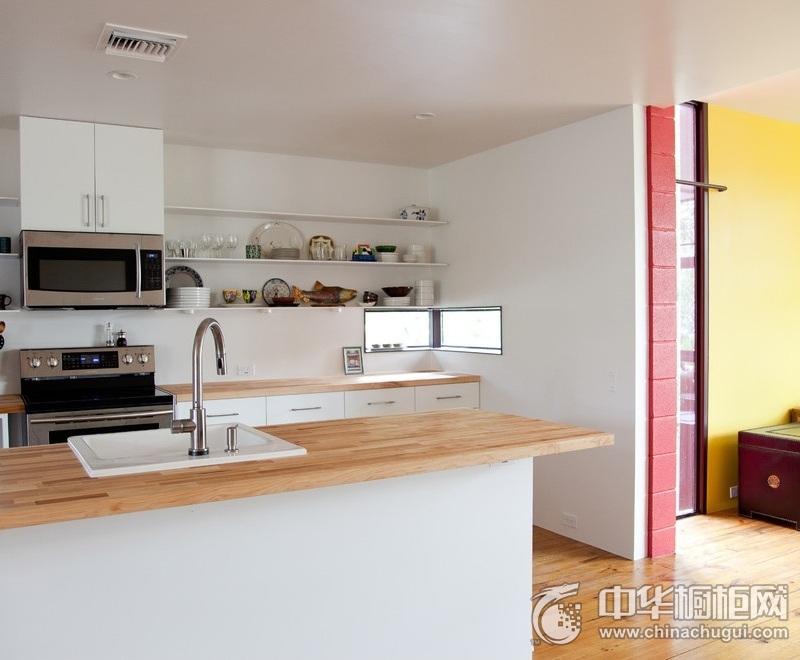 简洁强收纳白色橱柜装修效果图 厨房橱柜装修效果图片