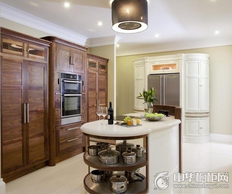 简欧风格厨房木纹整体橱柜效果图 开放式橱柜木纹橱柜效果图