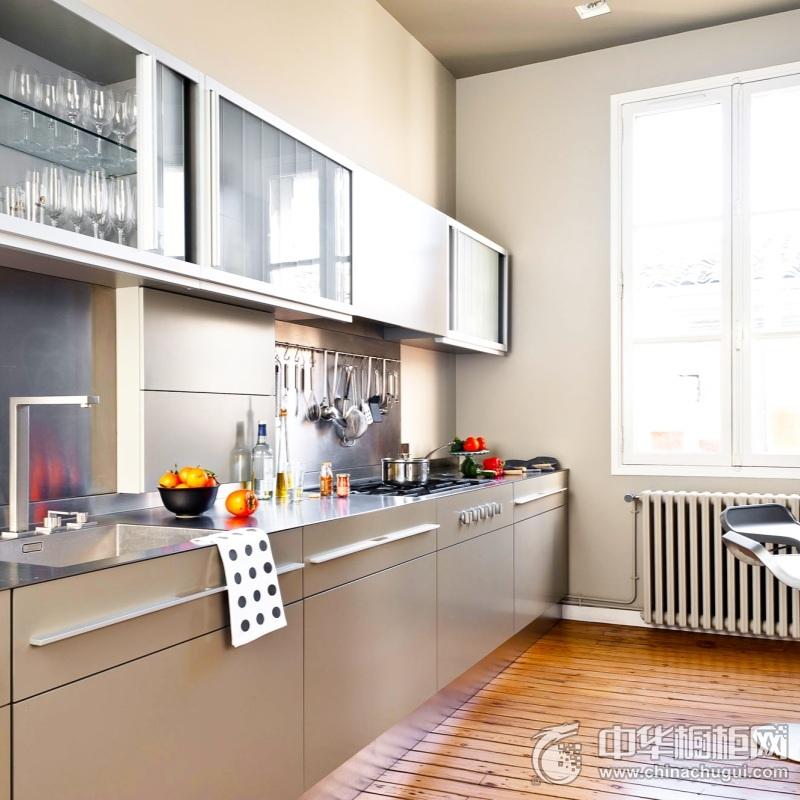 时尚前卫现代风格厨房橱柜装修图片 一字型整体橱柜图片